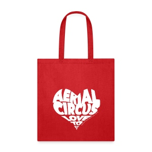 Aerial circus / Love to fly word art tank - Tote Bag
