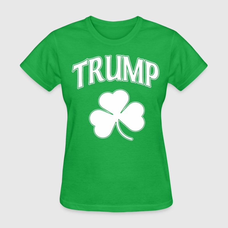 Irish Trump Shamrock Women's T-Shirts - Women's T-Shirt