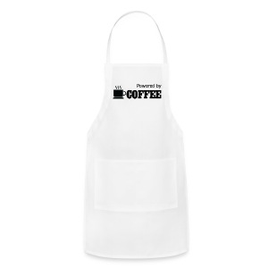 Powered By Coffee - Women's Hoodie - Adjustable Apron
