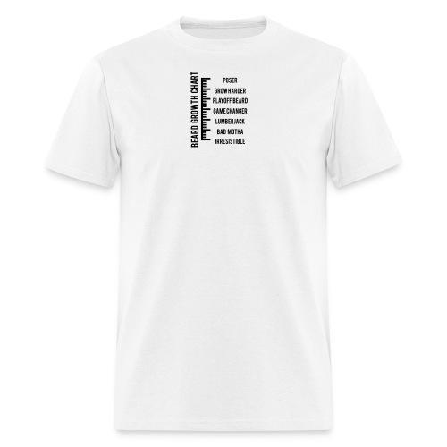 Beard Growth Chart - Men's Hoodie - Men's T-Shirt