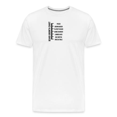 Beard Growth Chart - Men's Hoodie - Men's Premium T-Shirt