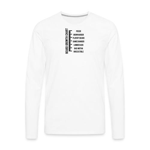 Beard Growth Chart - Men's Hoodie - Men's Premium Long Sleeve T-Shirt