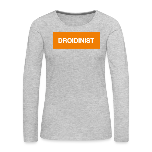BB-8 DROIDINIST - Women's Premium Long Sleeve T-Shirt