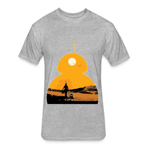 BB-8 & Rey - Fitted Cotton/Poly T-Shirt by Next Level