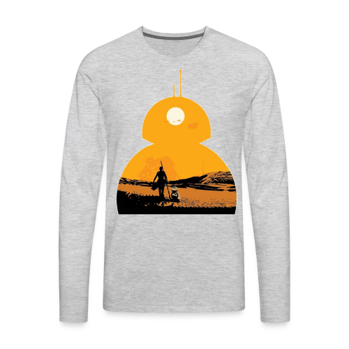 BB-8 & Rey - Men's Premium Long Sleeve T-Shirt