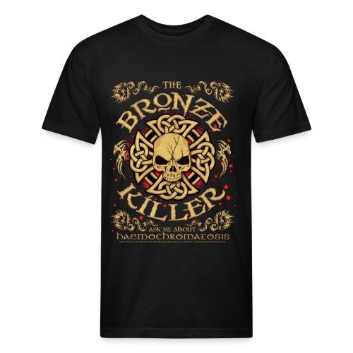 Hemochromatosis Awareness Bronze Killer T Shirt - Fitted Cotton/Poly T-Shirt by Next Level
