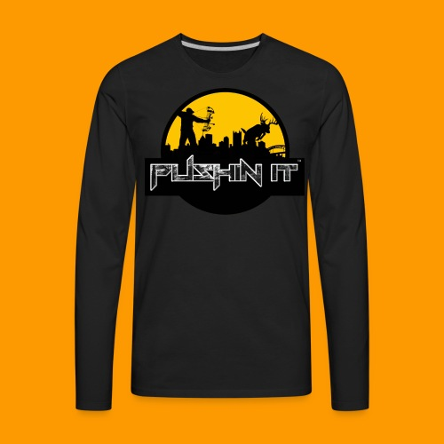 Pushin It Mens Pittsburgh Tee - Men's Premium Long Sleeve T-Shirt
