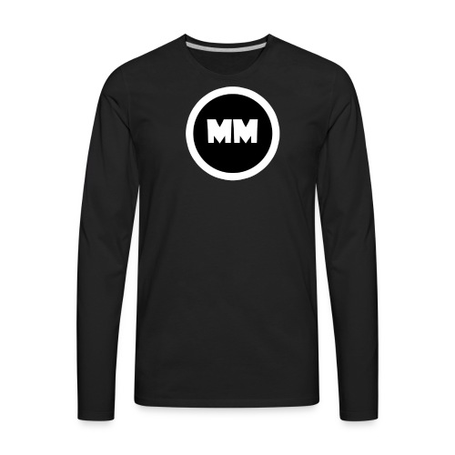 MEN - Mottoman Logo T-shirt Black - Men's Premium Long Sleeve T-Shirt