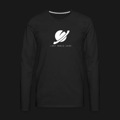 Lost World Zero Logo T-Shirt w/ Text - Men's Premium Long Sleeve T-Shirt