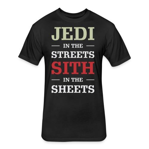 Jedi In The Streets - Fitted Cotton/Poly T-Shirt by Next Level