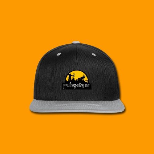 Distressed Logo mens Tee - Snap-back Baseball Cap