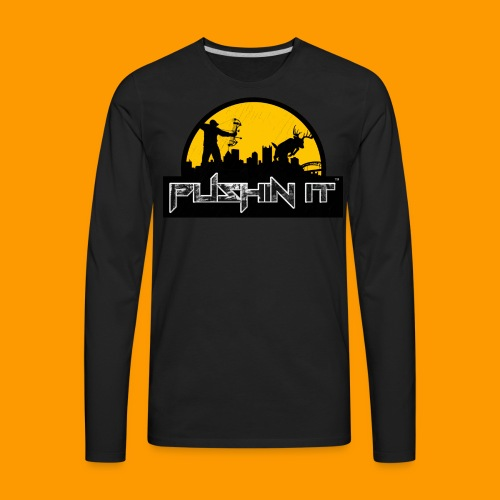 Distressed Logo mens Tee - Men's Premium Long Sleeve T-Shirt