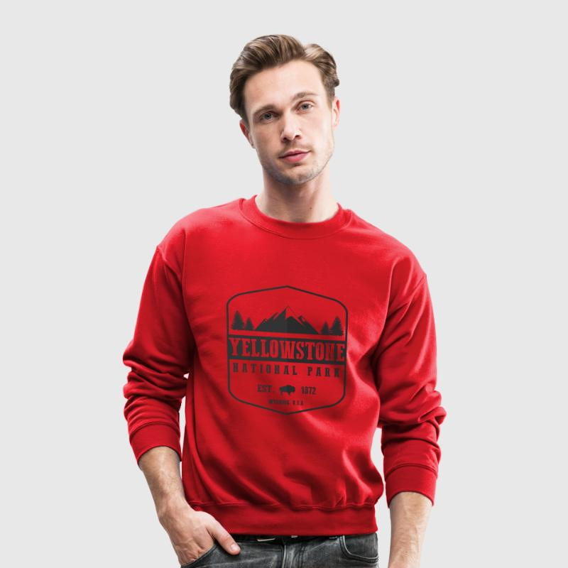 Yellowstone National Park Long Sleeve Shirts - Crewneck Sweatshirt