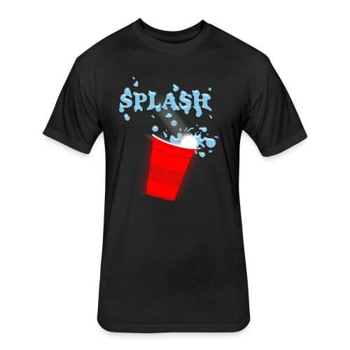Splash Blue - Fitted Cotton/Poly T-Shirt by Next Level