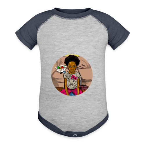'FRO OUT RUFFLE TEE SHIRT - Contrast Baby Bodysuit