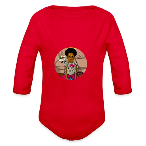 'FRO OUT RUFFLE TEE SHIRT - Organic Long Sleeve Baby Bodysuit