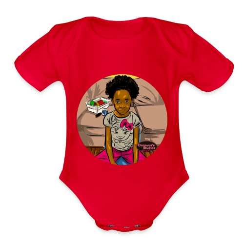 'FRO OUT RUFFLE TEE SHIRT - Organic Short Sleeve Baby Bodysuit