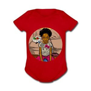 'FRO OUT RUFFLE TEE SHIRT - Short Sleeve Baby Bodysuit