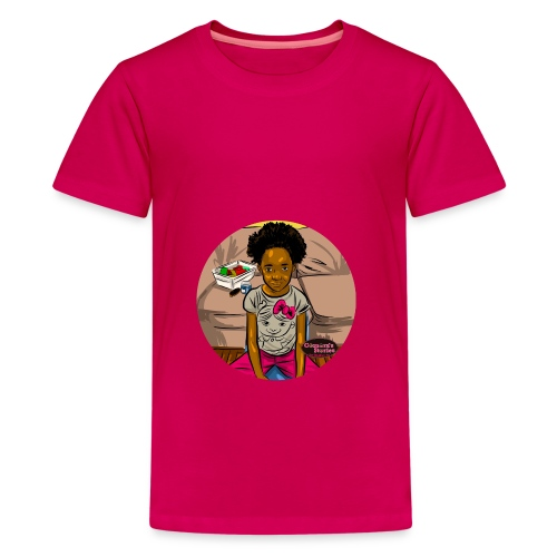 'FRO OUT RUFFLE TEE SHIRT - Kids' Premium T-Shirt