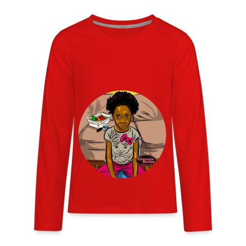 'FRO OUT RUFFLE TEE SHIRT - Kids' Premium Long Sleeve T-Shirt