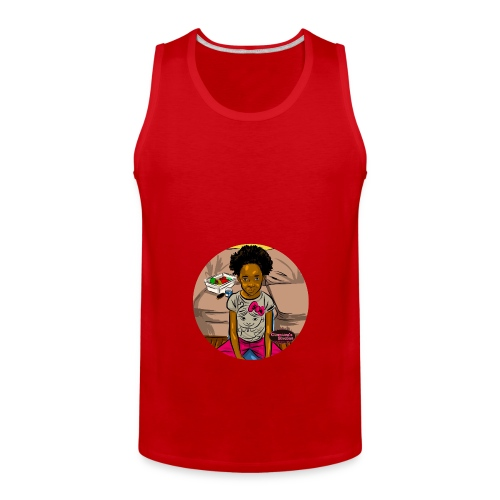 'FRO OUT RUFFLE TEE SHIRT - Men's Premium Tank