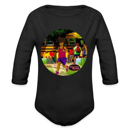 KIDS EASY TWIST TEE SHIRT  - Organic Long Sleeve Baby Bodysuit