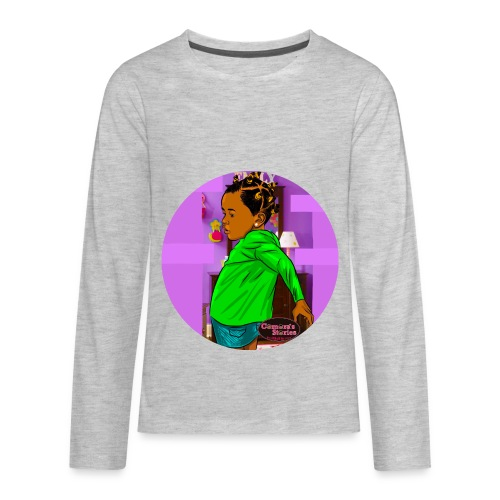 KIDS BANTU KNOT RUFFLE TEE SHIRT - Kids' Premium Long Sleeve T-Shirt