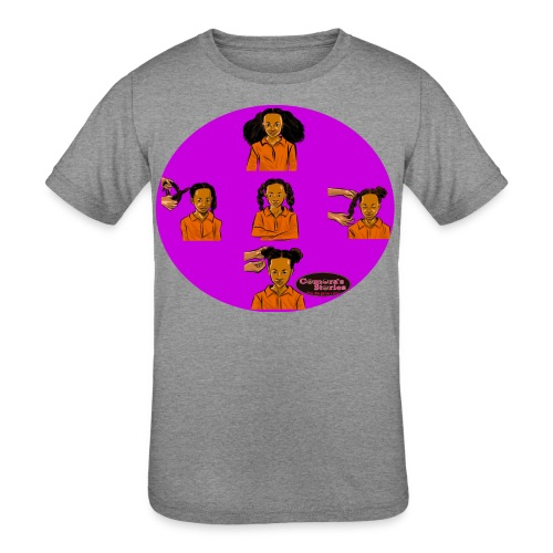 KIDS BRAIDED BUN TEE SHIRT - Kid's Tri-Blend T-Shirt