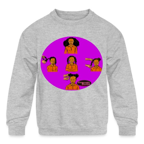 KIDS BRAIDED BUN TEE SHIRT - Kids' Crewneck Sweatshirt