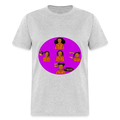KIDS BRAIDED BUN TEE SHIRT - Men's T-Shirt