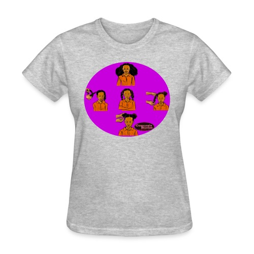 KIDS BRAIDED BUN TEE SHIRT - Women's T-Shirt
