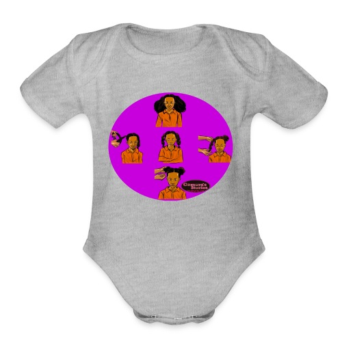 KIDS BRAIDED BUN TEE SHIRT - Organic Short Sleeve Baby Bodysuit