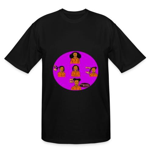 KIDS BRAIDED BUN TEE SHIRT - Men's Tall T-Shirt