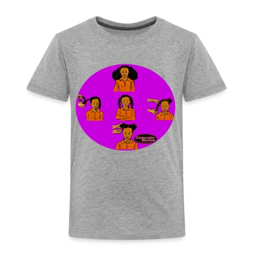 KIDS BRAIDED BUN TEE SHIRT - Toddler Premium T-Shirt