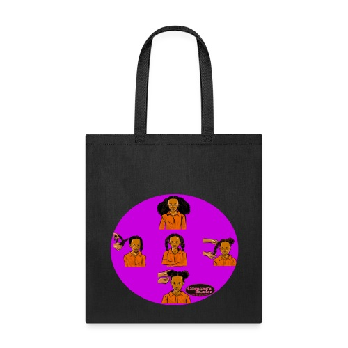 KIDS BRAIDED BUN TEE SHIRT - Tote Bag