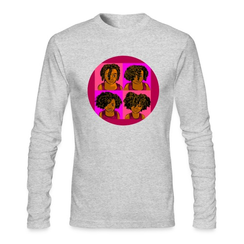 KIDS 4 STAGES OF EASY TWIST - Men's Long Sleeve T-Shirt by Next Level