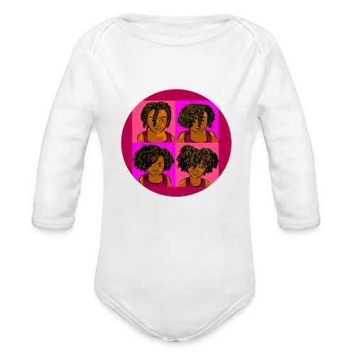 KIDS 4 STAGES OF EASY TWIST - Organic Long Sleeve Baby Bodysuit