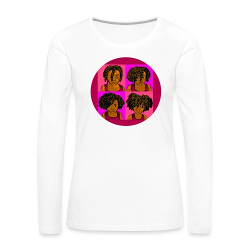 KIDS 4 STAGES OF EASY TWIST - Women's Premium Long Sleeve T-Shirt