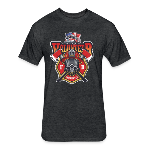Volunteer firefighter - Fitted Cotton/Poly T-Shirt by Next Level