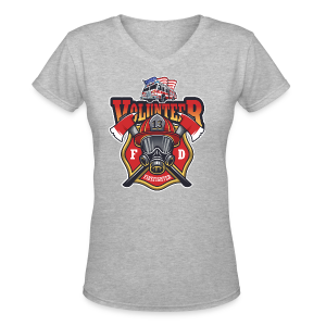 Volunteer firefighter - Women's V-Neck T-Shirt