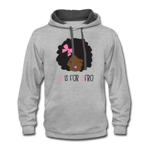 A is for Afro - Girl Adult T-shirt - Contrast Hoodie