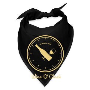 Wine O' Clock_cream - Bandana