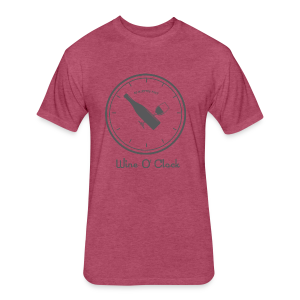 Wine O Clock - Fitted Cotton/Poly T-Shirt by Next Level