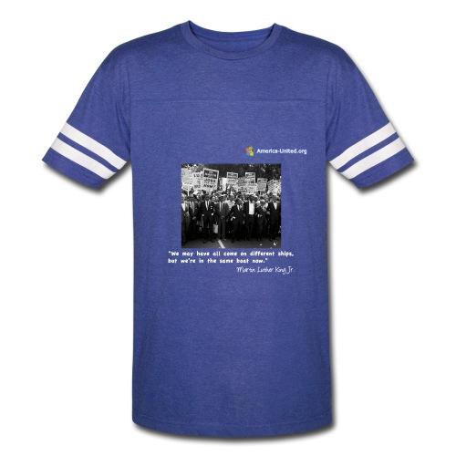 Men's Premium Martin Luther King Same Boat t-shirt - Vintage Sport T-Shirt