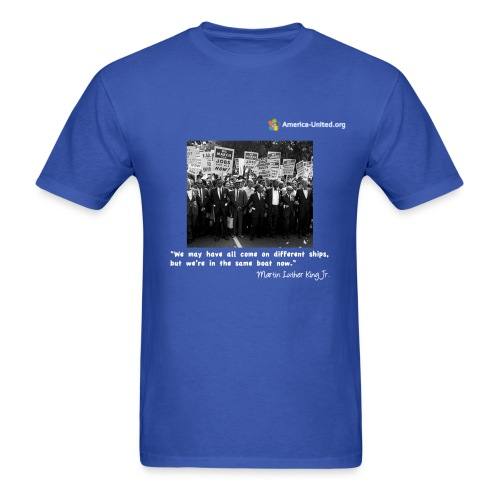 Men's Premium Martin Luther King Same Boat t-shirt - Men's T-Shirt
