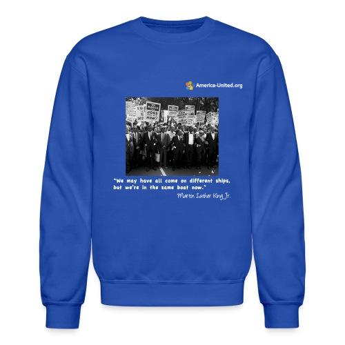 Men's Premium Martin Luther King Same Boat t-shirt - Crewneck Sweatshirt