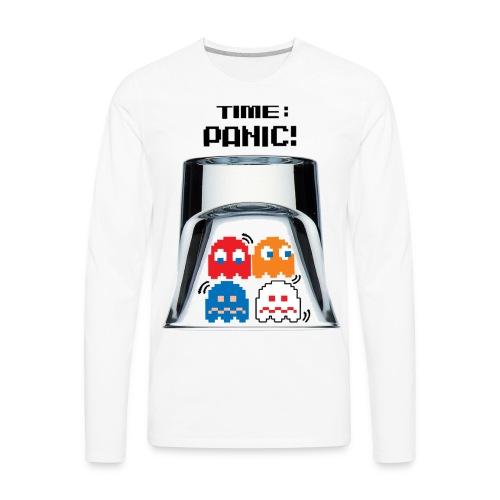 Panic Wht - Men's Premium Long Sleeve T-Shirt