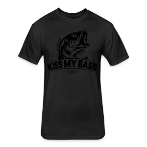 Kiss My Bass - Limited Edition - Fitted Cotton/Poly T-Shirt by Next Level