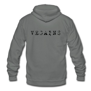Vegains Gym Shirt - Unisex Fleece Zip Hoodie by American Apparel