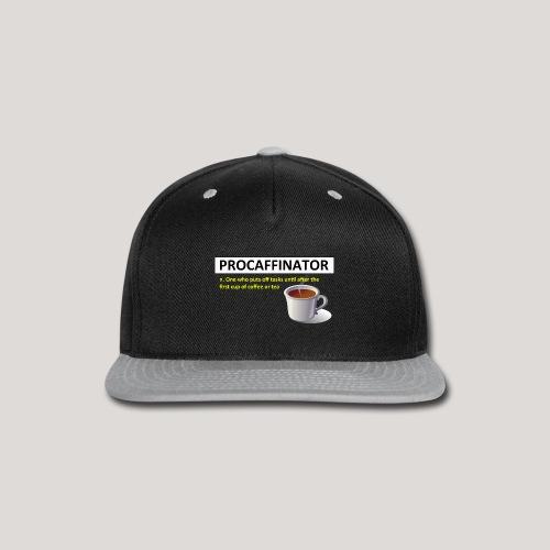Procaffinator Cool Coffee T-Shirt - Snap-back Baseball Cap